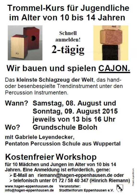 Trommel-Workshop August 2015