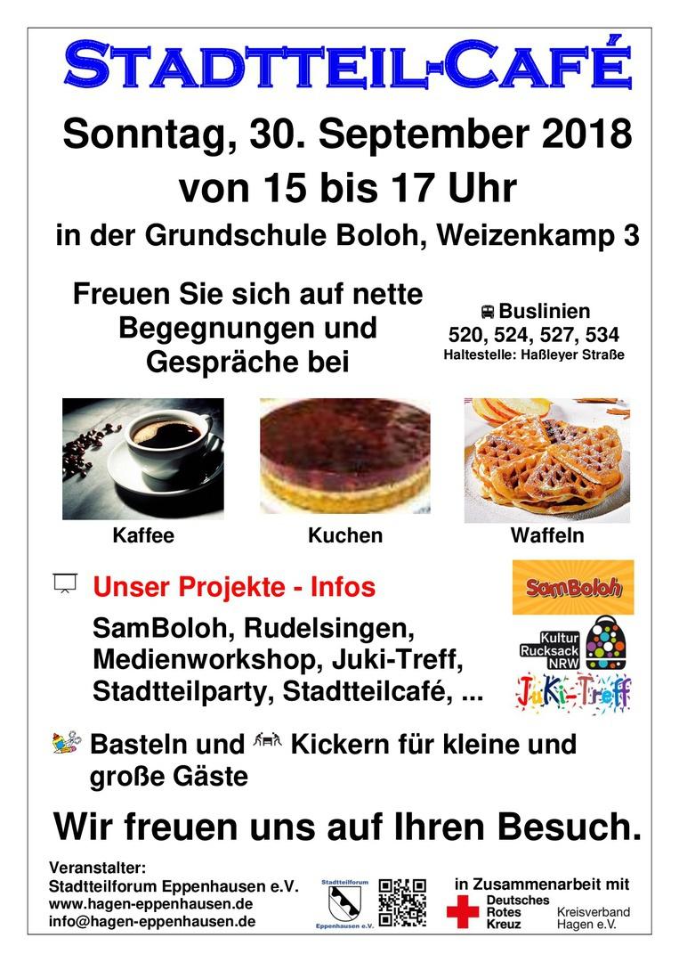 Ehrenamtliche Vom Roten Kreuz Verwöhnen Mit Leckeren Waffeln Und Kuchen Bei  Netten Begegnungen Und Gesprächen.